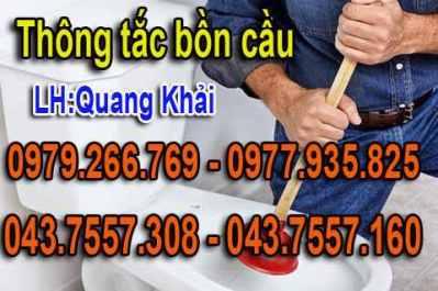 Thông tắc bồn cầu giá rẻ nhất Hà Nội,thông tắc chậu rửa bát,bể phốt,bồn cầu