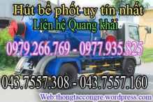 Dịch vụ hút bể phốt-thông tắc cống giá rẻ chất lượng
