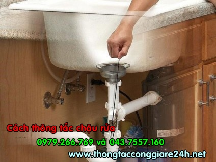 Cách thông tắc chậu rửa hiệu quả,cách thông cống hiệu quả,thông tắc chậu rửa bát hiệu quả
